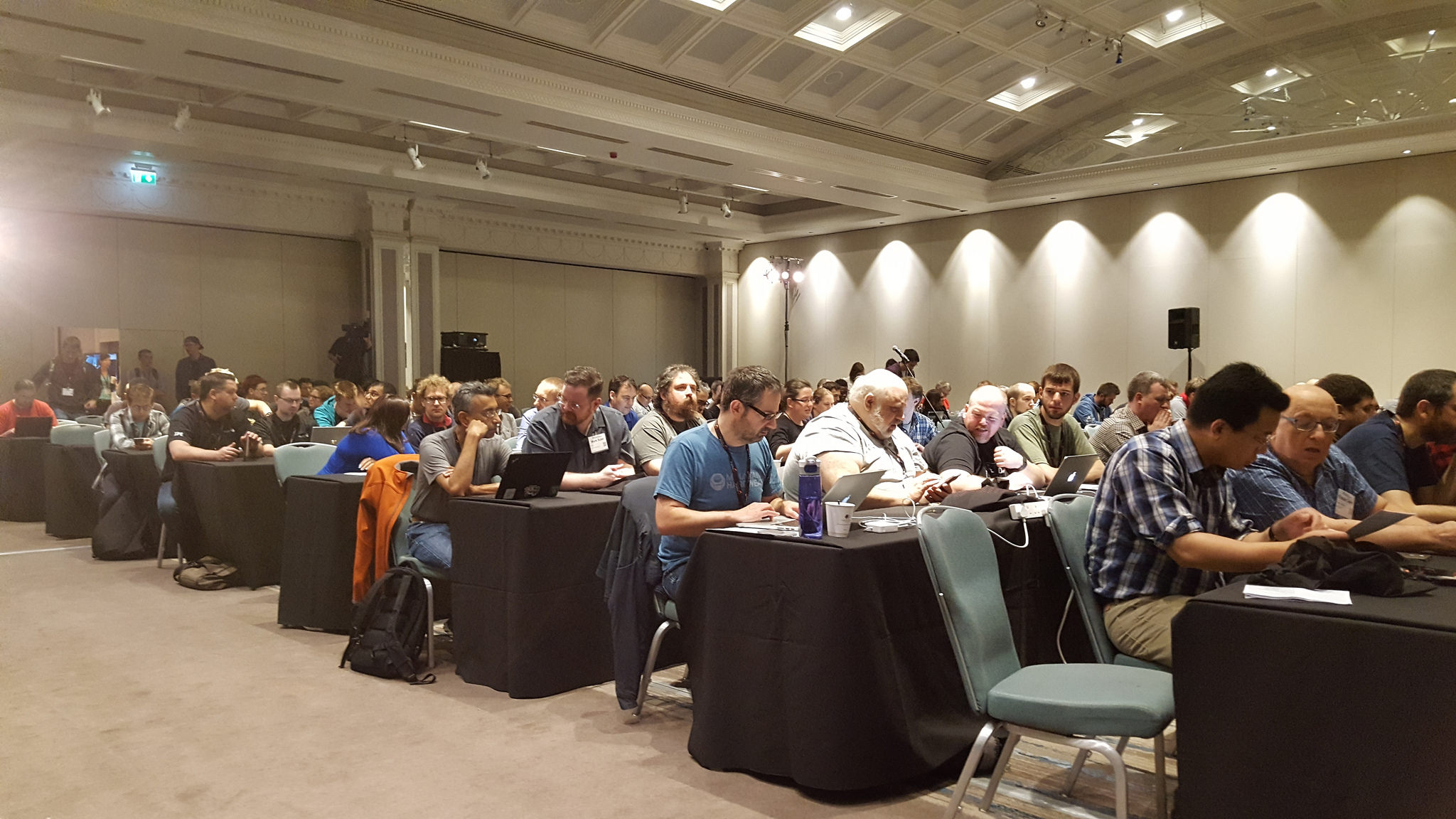 Attendees at SRECon